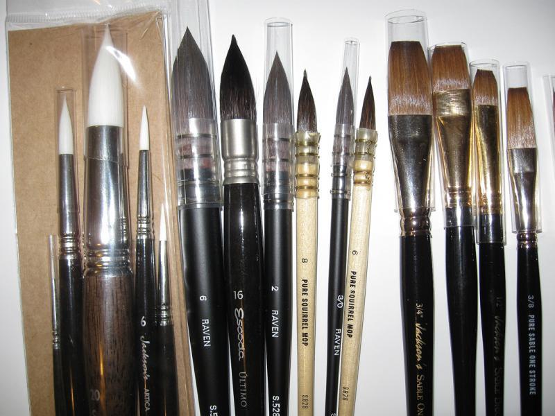 Jacksons Size 0 Round Studio Synthetic Watercolour Brush