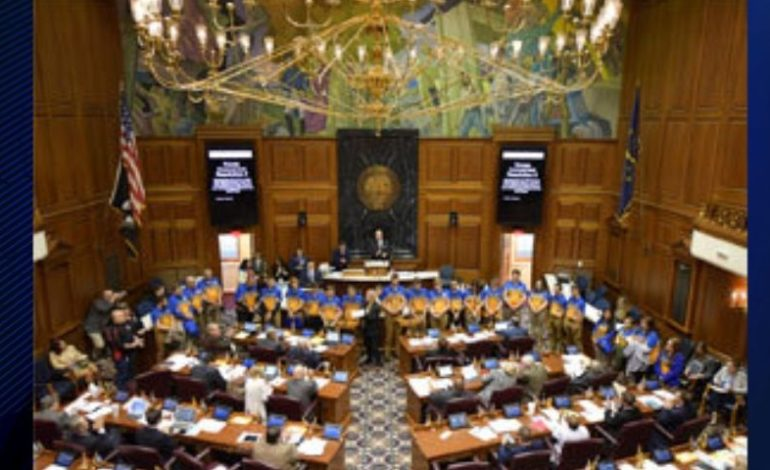 Castle Knights Archery Team Honored at Statehouse