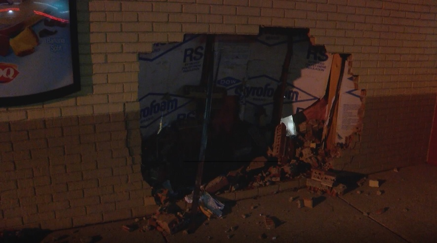 Photo of SUV Crashes Into Evansville Dairy Queen