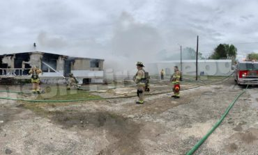 Fire Destroys Mobile Home in Henderson