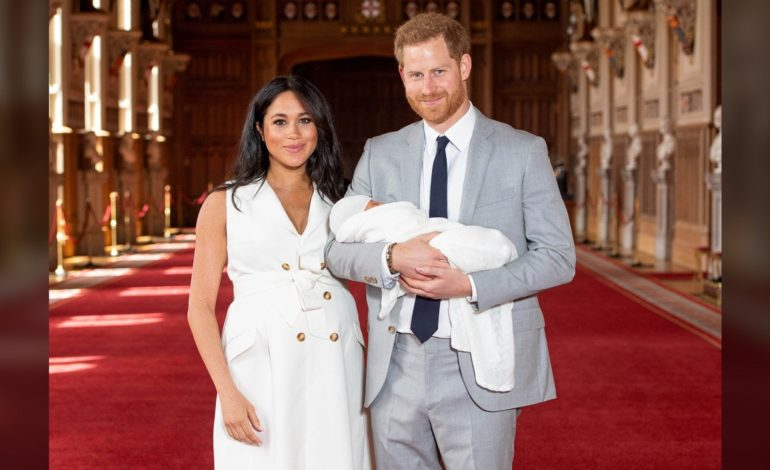 Meghan and Harry Reveal Newborn Son to Public