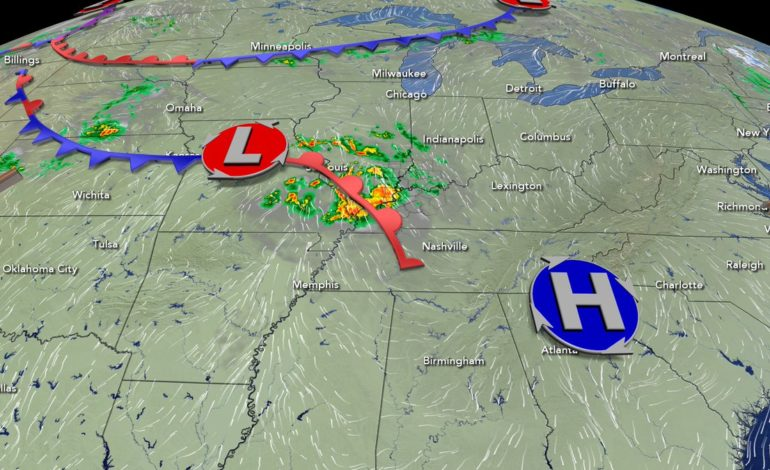 Scattered Showers Exit, Warmer Temps Knocking on Our Door