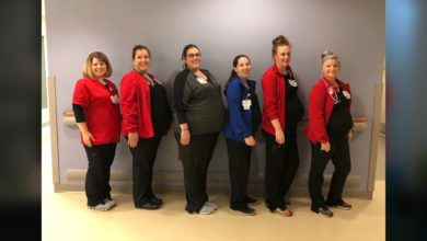 Photo of 6 Moms Working at Deaconess Gateway All Having Baby Boys in 6 Weeks