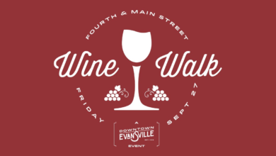 Photo of Downtown Evansville Fall Wine Walk