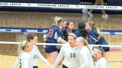 Photo of College VB: USI Wins on Senior Day: