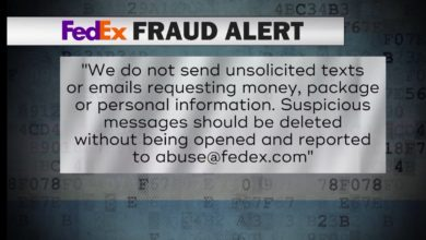 Photo of FedEx Warns of Text Message Scam