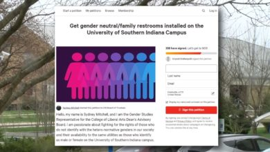 Photo of USI Student Proposes Gender-Neutral Bathrooms