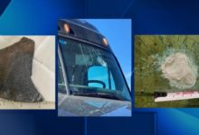 Photo of ISP: Metal Object Strikes Semi's Windshield on Interstate, Driver Seriously Injured