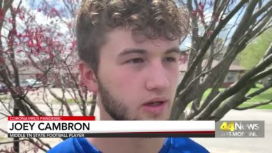 Photo of Message of Hope: Middle Tennessee State Football Player Joey Cambron
