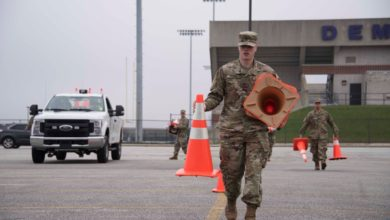 Photo of Indiana National Guard Helps at COVID-19 Testing Site