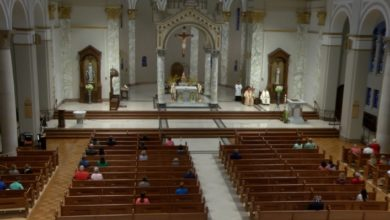 Photo of Catholic Diocese of Evansville Holds First Weekend in-Person Service in Months