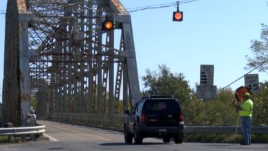 Photo of Henderson County's Spottsville Bridge Reduced to One Lane July 8