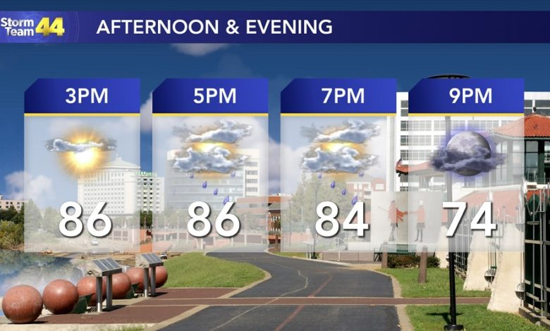 Image for Rain Chances Return Thursday; the Heat Kicks in Starting Tomorrow