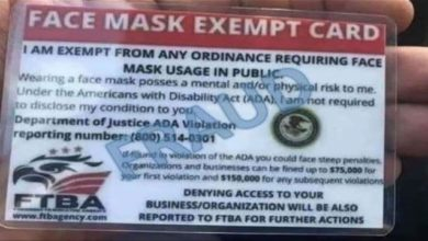 "Photo of Better Business Bureau Warns of Fake ""Mask Exemption"" Cards"