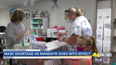 Photo of Mask Shortage in Kentucky as Mandate Takes Effect