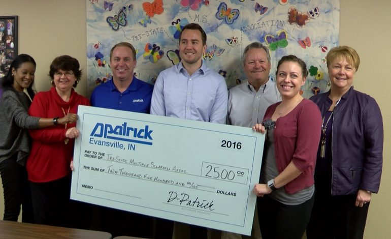 D-Patrick Donates $2,500 to the Tri-State Multiple Sclerosis Association