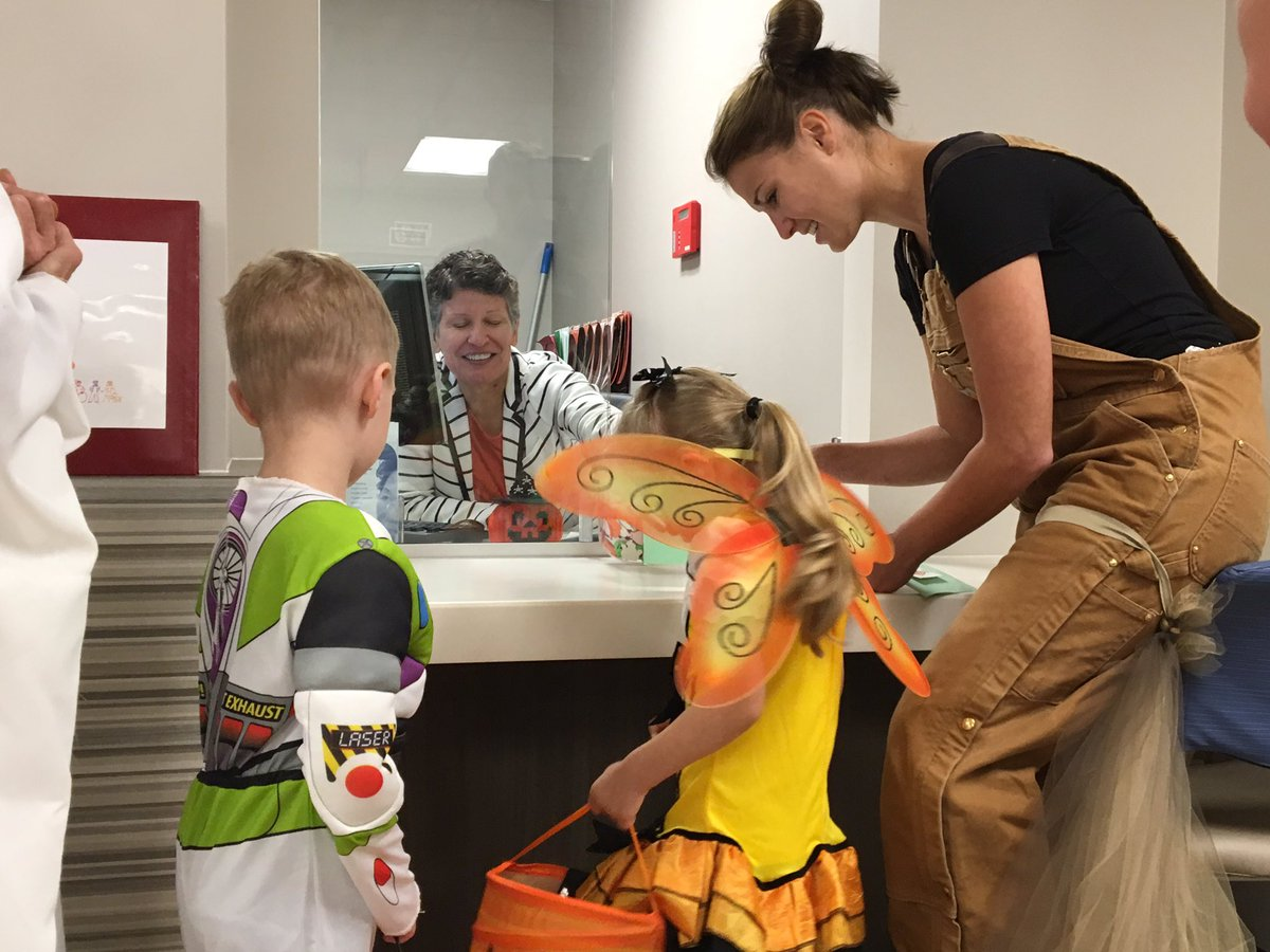 Photo of Preschoolers At Easter Seals Trick-Or-Treat Throughout The Facility