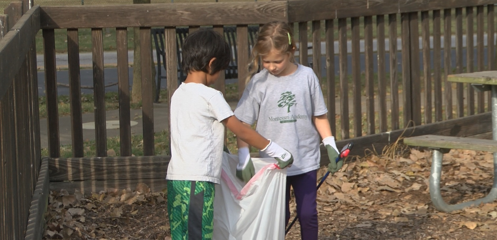 Photo of Students Spend The Morning Cleaning Up Kid's Kingdom