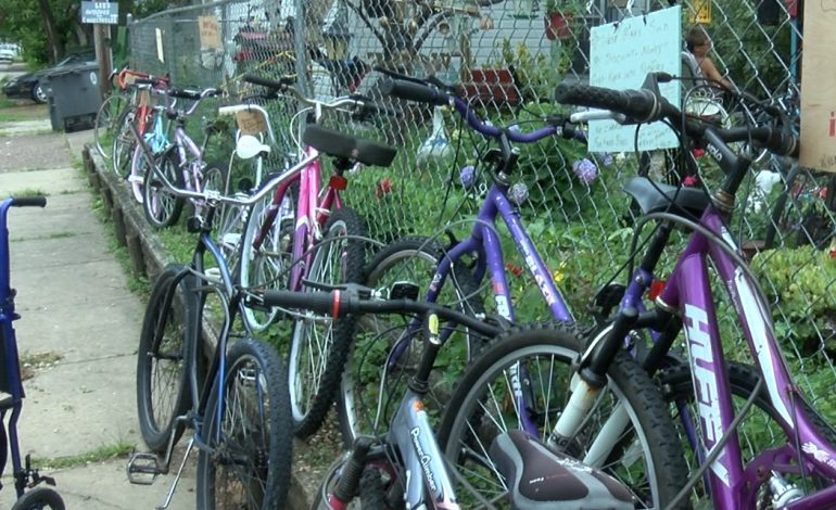 Retired EVSC Employee Hands Out Bikes in Jacobsville Neighborhood