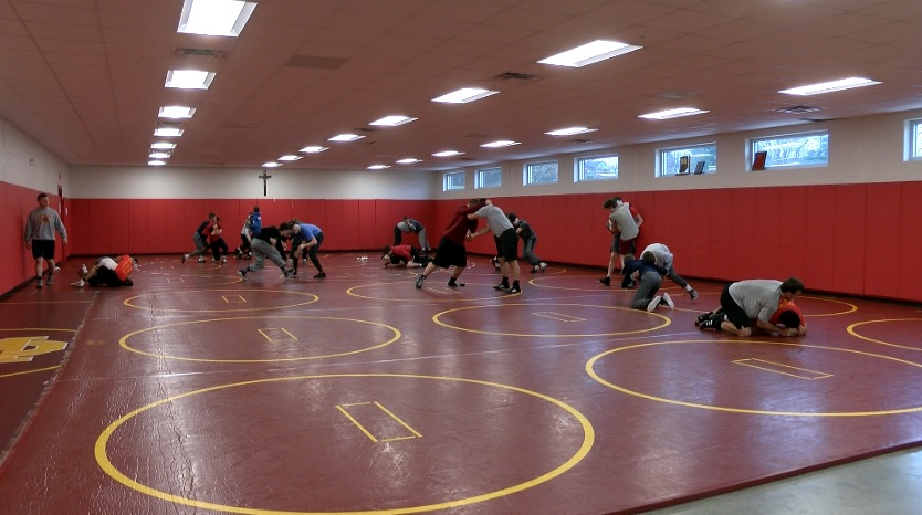 Photo of Mater Dei Wrestling Rings in the New Year
