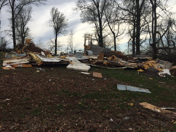 Photo of Mobile Home Destroyed in Utica