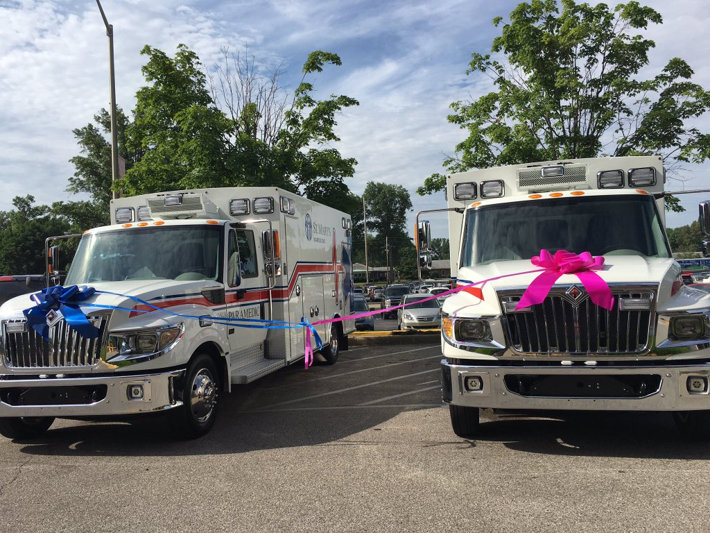 Photo of Two New Ambulances Revealed At St. Mary's Ribbon Cutting Event
