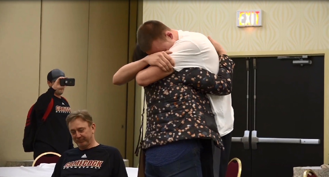 Photo of Jacksonville State's Giga Reunites with Mother