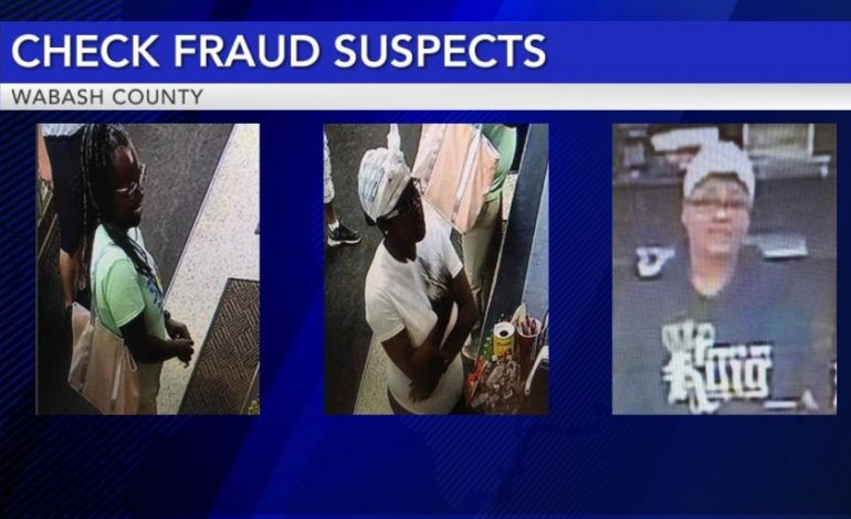 Looking For Suspects In A Check Fraud Case In Mt. Carmel