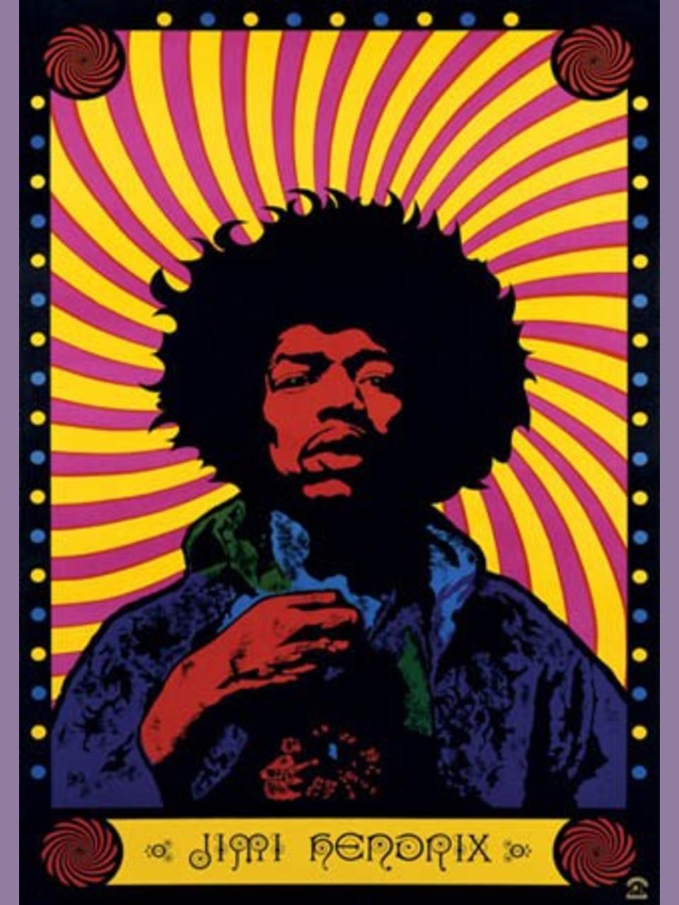 Jimi Hendrix 1967 Purple Haze