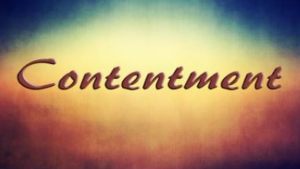 a soothing picture of the word contentment