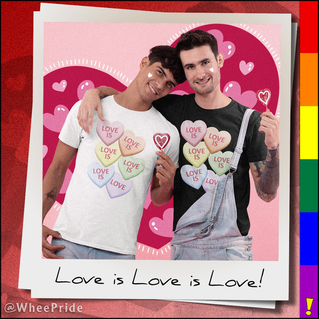Love Is Love Gay Pride Candy Heart Valentine's Day