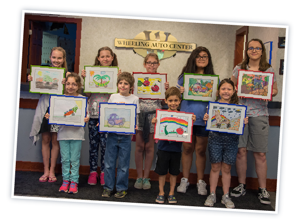 Wheeling Auto Center art contest Arlington Heights NC