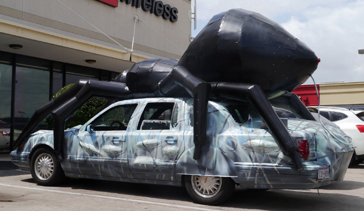 Wearing their art on their cars in Houston