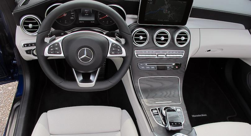c-class cabrio interior