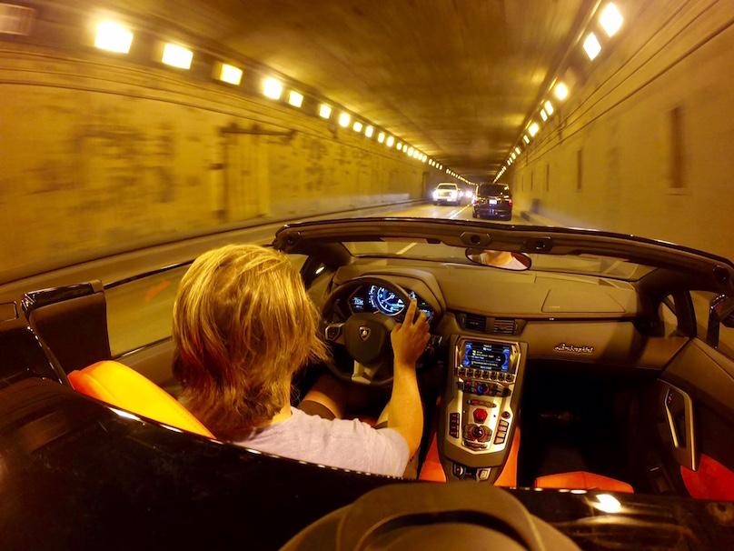 aventador driving