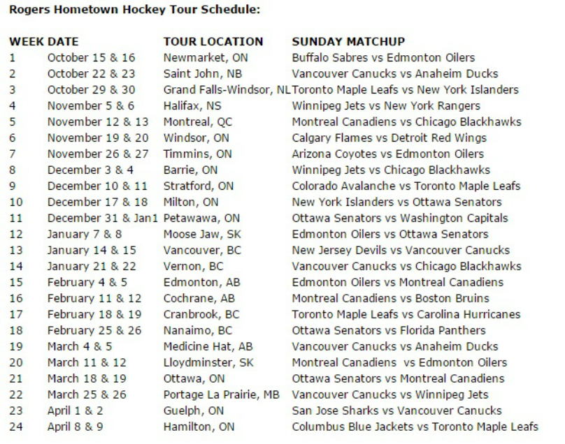 hometown-schedule