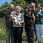 Four generations of Sadler genes (with spouses).