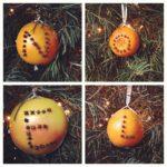 I helped mom make some Christmas ornaments.