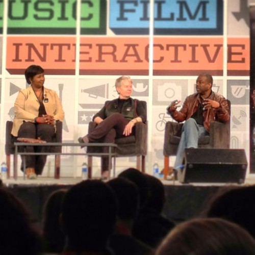 One of the panels I went to at SXSW. 
