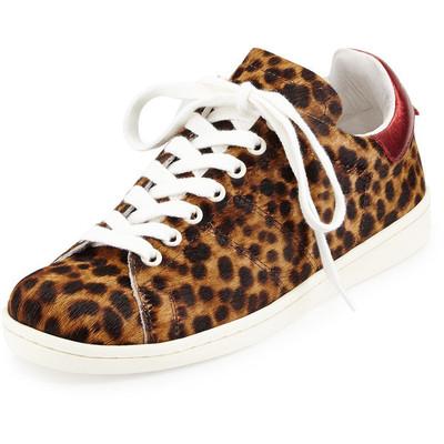 44b1c1e7dd02 Isabel Marant Bart Leopard-Print Calf Hair Low-Top Sneaker ...