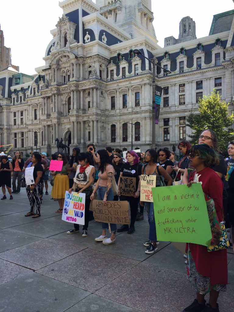 Feminists March at City Hall