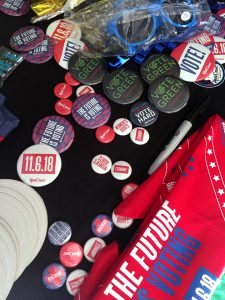Voting Pins at HeadCount and Motivote's Get Out to Vote Program