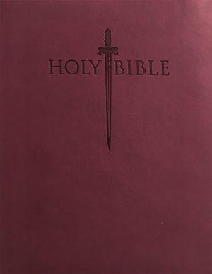 KJVER Thinline Bible Personal Size Indexed - Burgundy - Ultrasoft