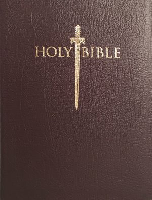 KJVER Thinline Bible Personal Size - Burgundy - Genuine Leather