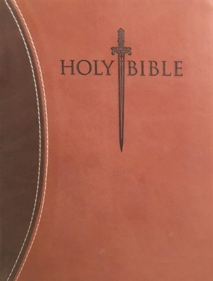KJVER Sword Study Bible Personal Size Large Print Dark Brown Light Brown Ultrasoft Indexed - 9781629114040