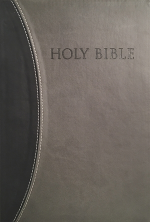 KJVER Thinline Bible Personal Size Black Grey Ultrasoft - King James Version Easy Read -