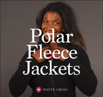 White Cross Polar Fleece Jackets