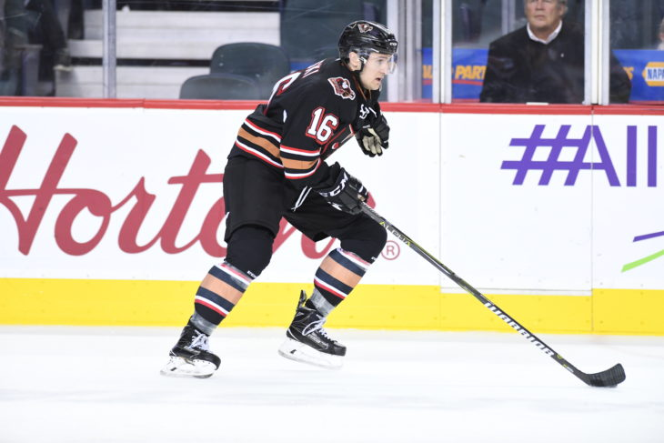 Jake Kryski leads the Hitmen in four different statistical categories