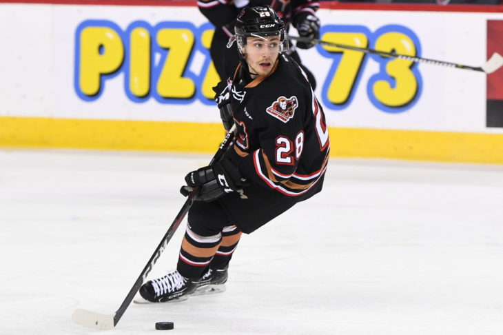 James Malm has two points in his first three games with the Hitmen. He sits one goal shy of 50 in his career.