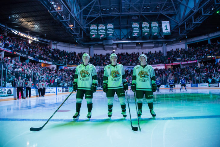 EVERETT, WA - MARCH 16: (Photo by Christopher Mast/Everett Silvertips)